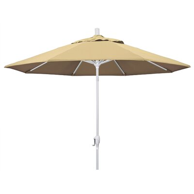 9 Market Umbrella Fabric: Beige, Frame Finish: Matted White