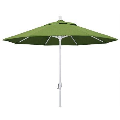 9 Market Umbrella Frame Finish: Matted White, Fabric: Sunbrella - Spectrum Cilantro