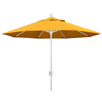 9 Market Umbrella Fabric: Yellow, Frame Finish: Matted White