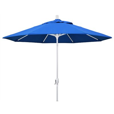 9 Market Umbrella Frame Finish: Matted White, Fabric: Pacific Blue