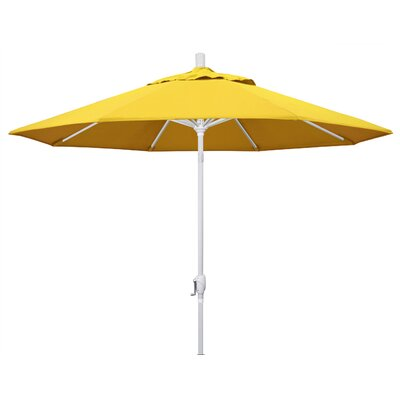 9 Market Umbrella Frame Finish: Matted White, Fabric: Lemon
