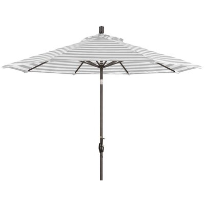9 Market Umbrella Color: Gray White Cabana Stripe