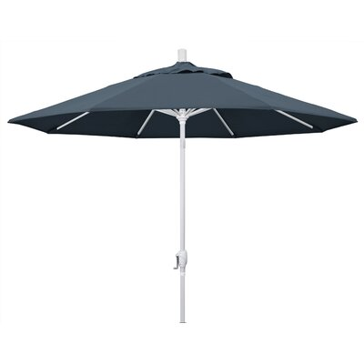 9 Market Umbrella Fabric: Sapphire, Frame Finish: Matted White