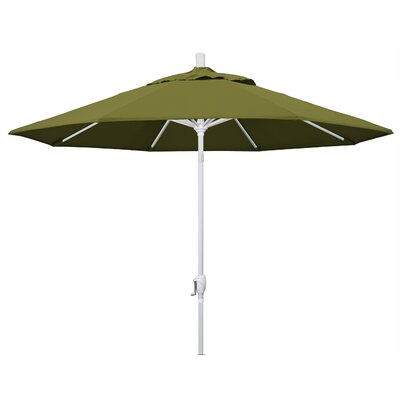 9 Market Umbrella Fabric: Palm, Frame Finish: Matted White