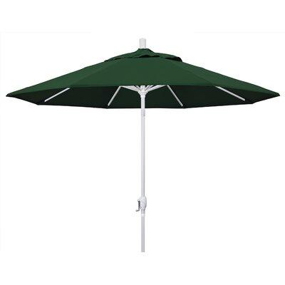 9 Market Umbrella Fabric: Hunter Green, Frame Finish: Matted White