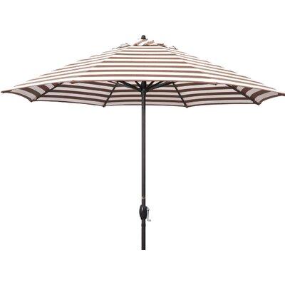 9 Sunline Market Umbrella Color: Brick White Cabana Stripe