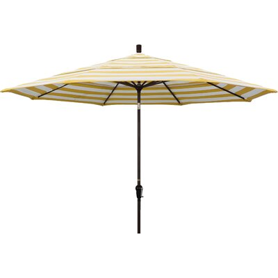 11 Market Umbrella Fabric: Citron, Frame Finish: Bronze