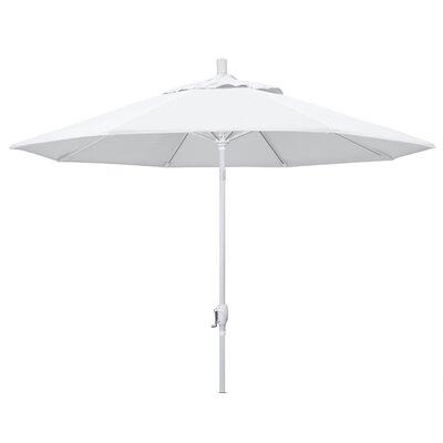 9 Market Umbrella Frame Finish: Matted White, Fabric: White