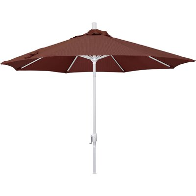 9' Market Umbrella Frame Finish: Matted White, Fabric: Terrace Adobe GSPT908170-FD12