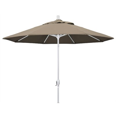 9 Market Umbrella Fabric: Taupe, Frame Finish: Matted White