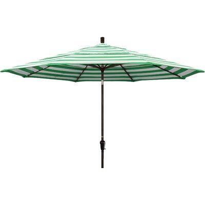 11 Market Umbrella Frame Finish: Bronze, Fabric: Emerald