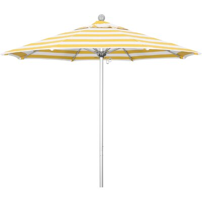 7.5 Market Umbrella Fabric: Flame, Frame Finish: Matted White