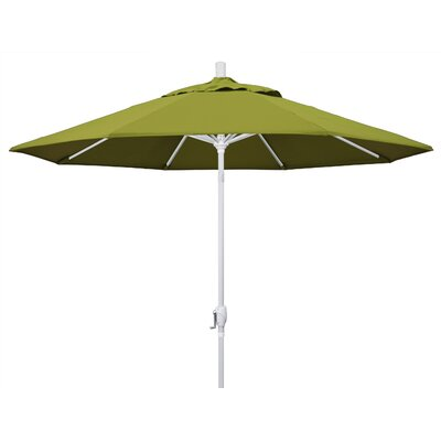 9 Market Umbrella Fabric: Ginkgo, Frame Finish: Matted White