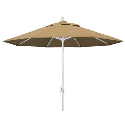 9 Market Umbrella Frame Finish: Matted White, Fabric: Straw