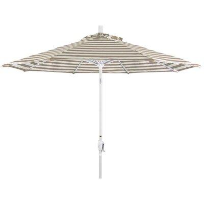 9 Market Umbrella Color: Beige White Cabana Stripe, Frame Finish: Sand