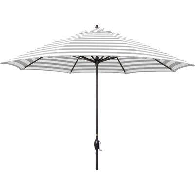 9 Sunline Market Umbrella Color: Gray White Cabana Stripe