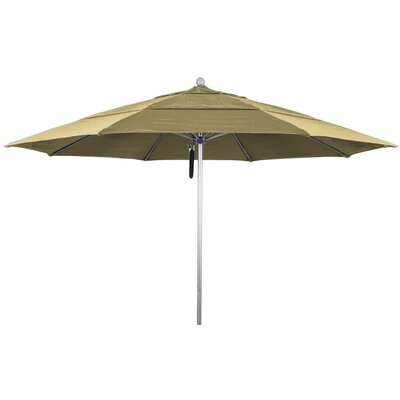 11 Market Umbrella Frame Finish: Silver Anodized, Color: Jockey Red