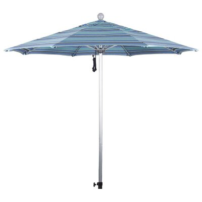 9 Market Umbrella Frame Finish: Silver Anodized, Color: Dolce Oasis