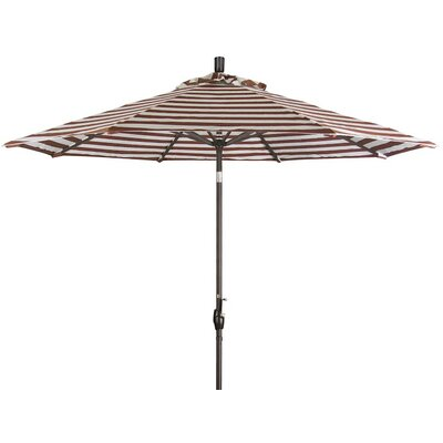 9 Market Umbrella Color: Brick White Cabana Stripe