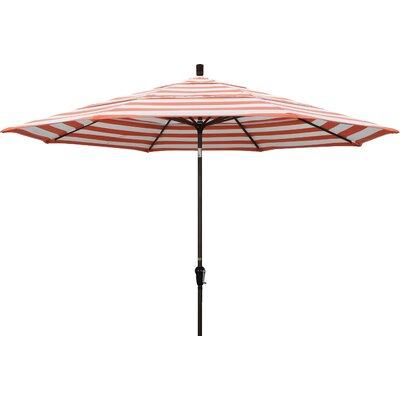 11 Market Umbrella Fabric: Flame, Frame Finish: Champagne