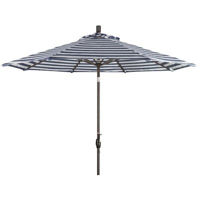 9 Market Umbrella Color: Navy White Cabana Stripe