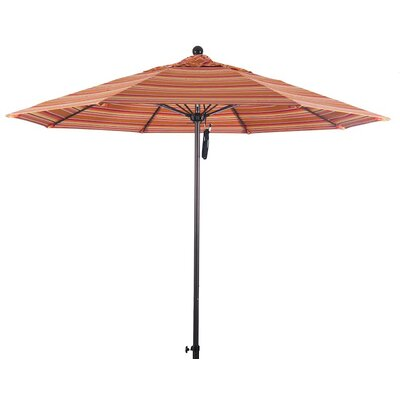 9 Market Umbrella Color: Dolce Mango, Frame Finish: Bronze