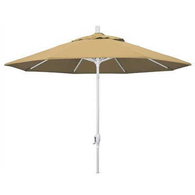 9 Market Umbrella Frame Finish: Matted White, Fabric: Champagne