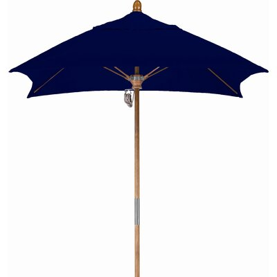 6 Square Market Umbrella Fabric: Sunbrella A Navy, Frame Finish: Marenti Wood