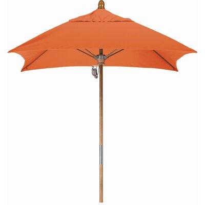 6 Square Market Umbrella Fabric: Sunbrella AA Tuscan, Frame Finish: Marenti Wood