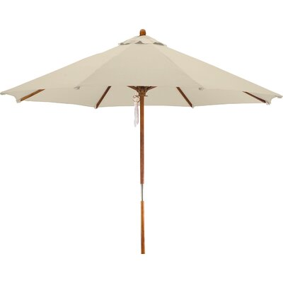 9' Woodhaven Market Umbrella Fabric: Polyester Antique Beige BCHH6574 40292069