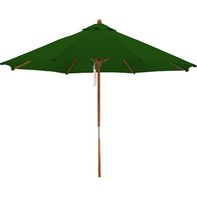 9 Woodhaven Market Umbrella Fabric: Polyester Hunter Green