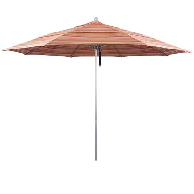 11 Market Umbrella Frame Finish: Silver Anodized, Color: Seville Seaside
