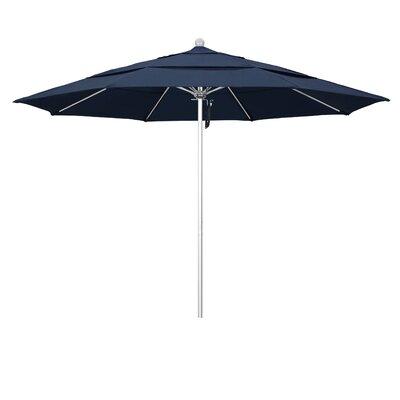11 Market Umbrella Frame Finish: Silver Anodized, Color: Spectrum Indigo