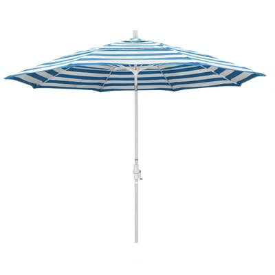 11 Market Umbrella Fabric: Matted White, Frame: Regatta