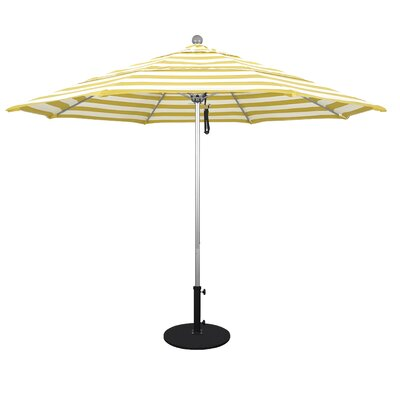11 Market Umbrella Frame Finish: Anodized, Fabric: Emerald