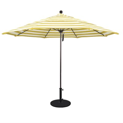 11 Market Umbrella Fabric: Classic, Frame Finish: Matted White