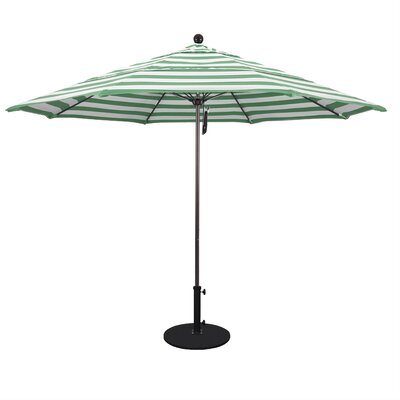 11 Market Umbrella Fabric: Emerald, Frame Finish: Bronze