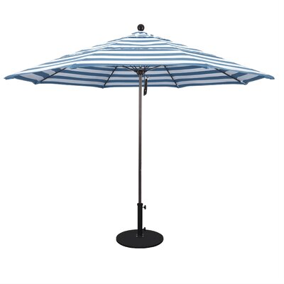 11 Market Umbrella Fabric: Regatta, Frame Finish: Bronze