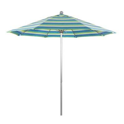 9 Market Umbrella Frame Finish: Silver Anodized, Color: Seville Seaside