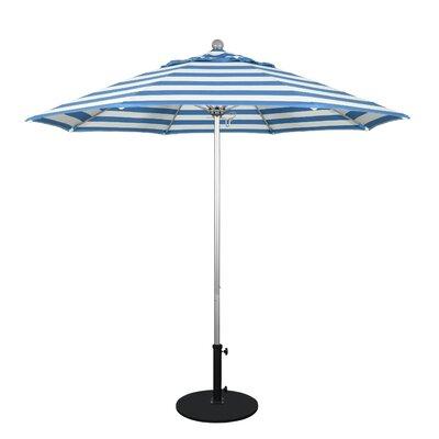 9 Market Umbrella Frame Finish: Anodized, Fabric: Regatta