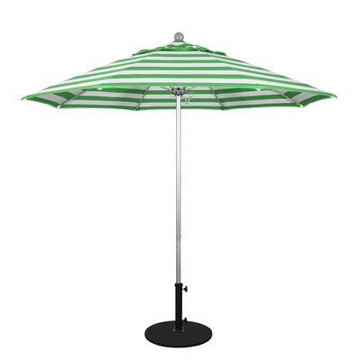 9 Market Umbrella Frame Finish: Anodized, Fabric: Emerald