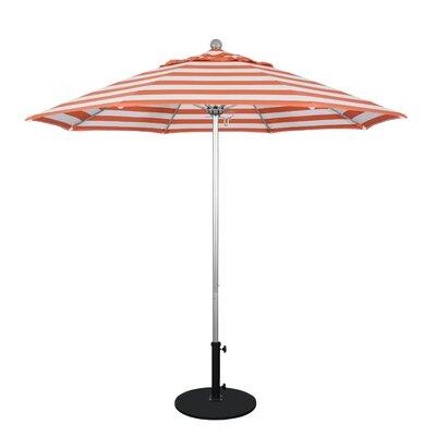 9 Market Umbrella Frame Finish: Anodized, Fabric: Flame