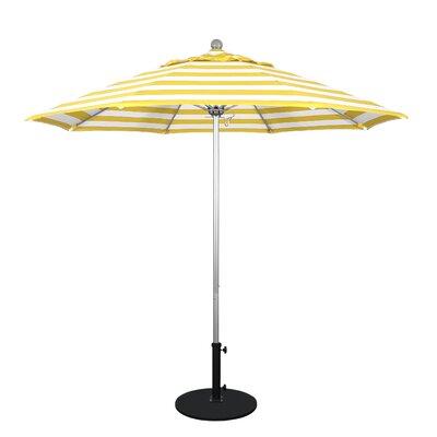 9 Market Umbrella Fabric: Citron, Frame Finish: Bronze