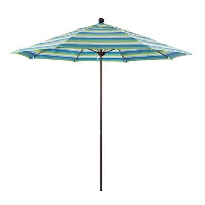 9 Market Umbrella Color: Seville Seaside, Frame Finish: Bronze