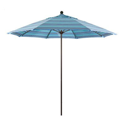 9 Market Umbrella Color: Dolce Oasis, Frame Finish: Bronze