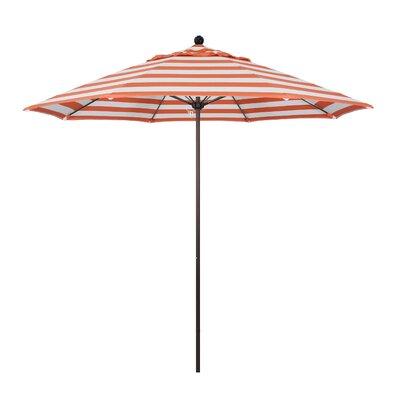 9 Market Umbrella Fabric: Flame, Frame Finish: Bronze