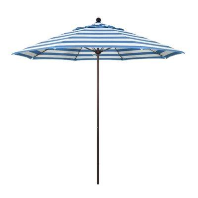 9 Market Umbrella Fabric: Regatta, Frame Finish: Bronze