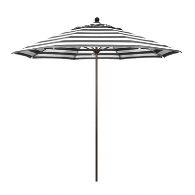 9 Market Umbrella Fabric: Classic, Frame Finish: Bronze