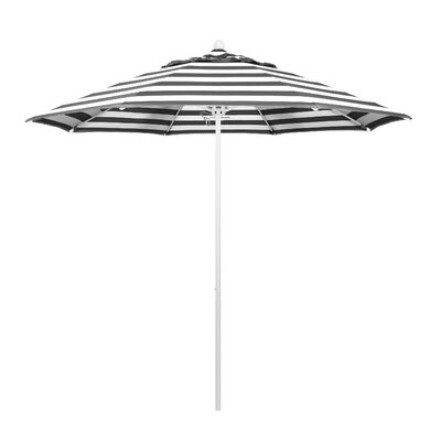 9 Market Umbrella Fabric: Classic, Frame Finish: Matted White