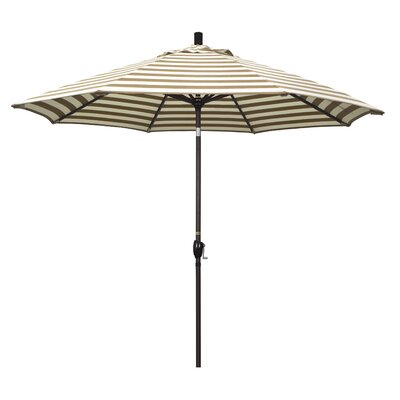 9' Market Umbrella Frame Finish: Bronze, Color: Brick White Cabana Stripe GSPT908117-F93